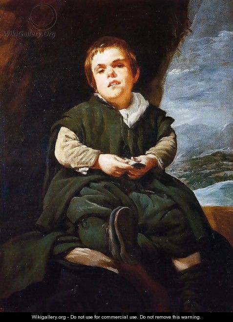 "The Dwarf Francisco Lezcano, Called ""El Nino de Vallecas"" 1643-45 - Diego Rodriguez de Silva y Velazquez"