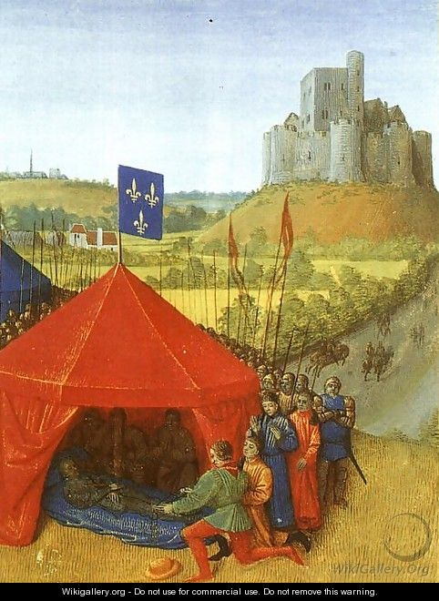 The Commander of Chateauneuf du Randon Surrending his Keys to Bertrand du Guesclin - French Unknown Masters