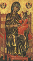Enthroned Madonna and Child (13th Century) - Byzantine Unknown Master
