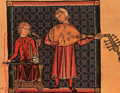 "Minstrels with a Rebec and a Lute, from the ""Cantigas de Santa Maria"" - Spanish Unknown Masters"