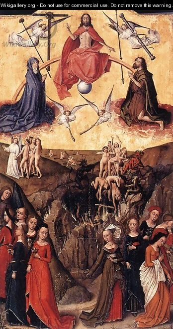Last Judgment anf the Wise and Foolish Virgins 1450s and c. 1480 - Flemish Unknown Masters