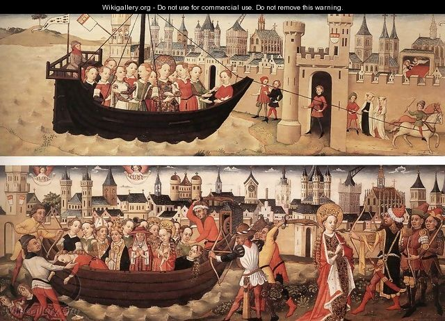 "Scenes from the ""Small Ursula Cycle"" 1440s - German Unknown Masters"