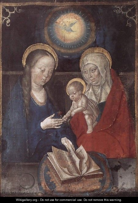Virgin and Child with St Anne 1490s - Flemish Unknown Masters