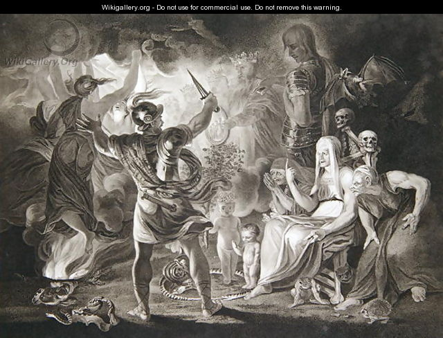 Macbeth, the Three Witches and Hecate in Act IV, Scene I of