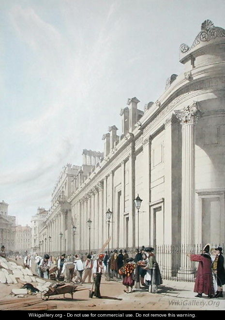 The Bank of England looking towards the Mansion House, 1842 - Thomas Shotter Boys
