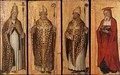 St. Gregory, St. Ambrose, St. Augustine, St. Jerome (Four Doctors of the Church) c.1495 - Carlo di Braccesco