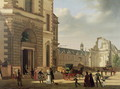 The Entrance to the Musee de Louvre and St. Louis Church, 1822 - Etienne Bouhot
