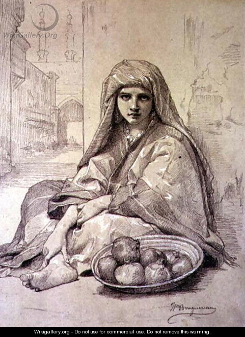 Algerian Girl Selling Pomegranates - William-Adolphe Bouguereau