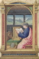 St. Luke Writing, from a Book of Hours - Jean Bourdichon