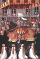 Louis XII (1462-1515) entering Genoa under a canopy, followed by four cardinals - Jean Bourdichon