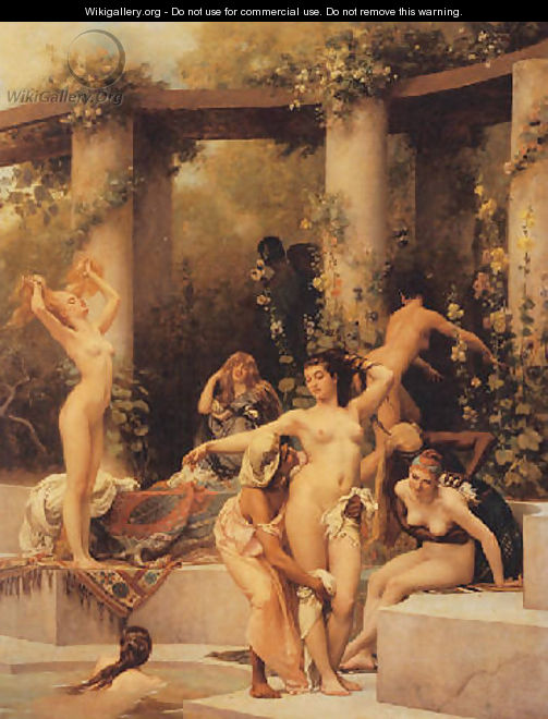 The bathers 1875 - Gustave Clarence Rodolphe Boulanger