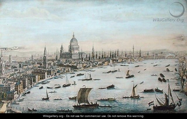 The South West Prospect of London, from Somerset Gardens to the Tower (2) - Thomas Bowles