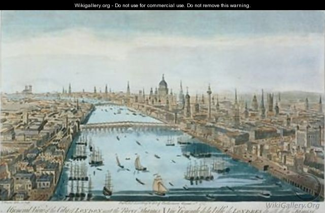 A General View of the City of London and the River Thames, plate 2 from