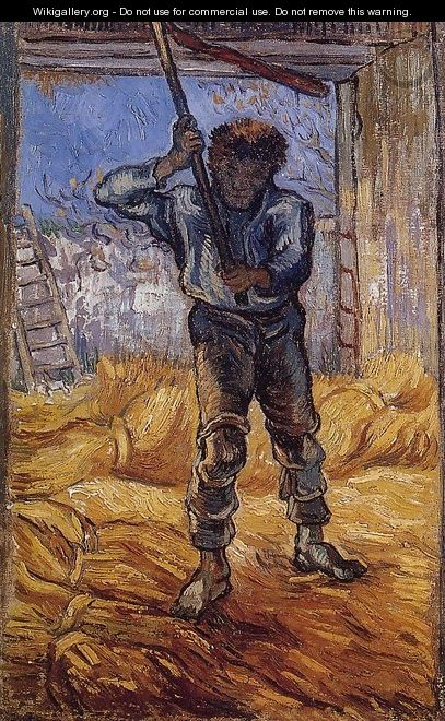 The Thrasher (after Millet) - Vincent Van Gogh