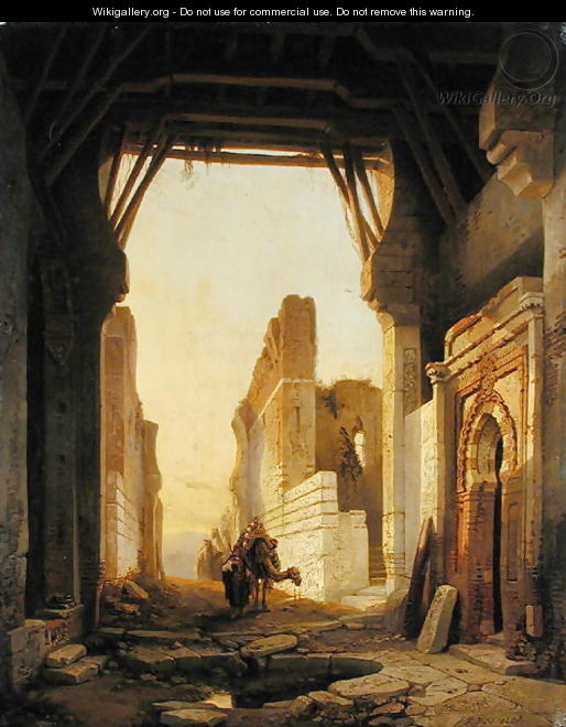 The Gates of El Geber in Morocco - Francois Antoine Bossuet