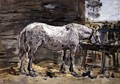 A Horse Drinking, c.1885-90 - Eugène Boudin