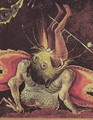 The Last Judgement (detail of a man being eaten by a monster) c.1504 - Hieronymous Bosch