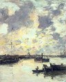 The Port c.1895 - Eugène Boudin