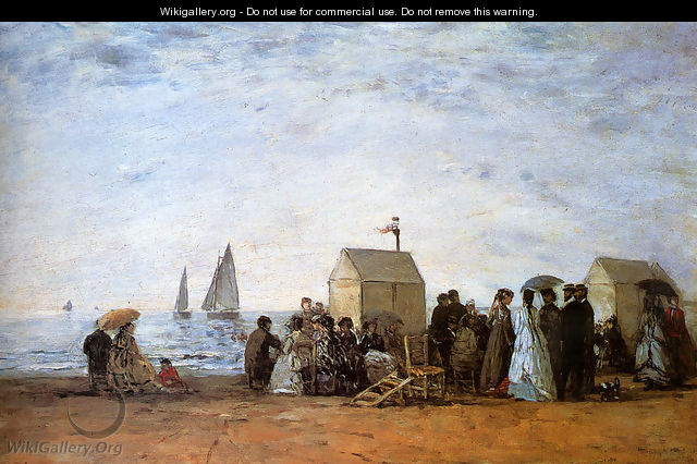 The Beach at Trouville 1867 - Eugène Boudin