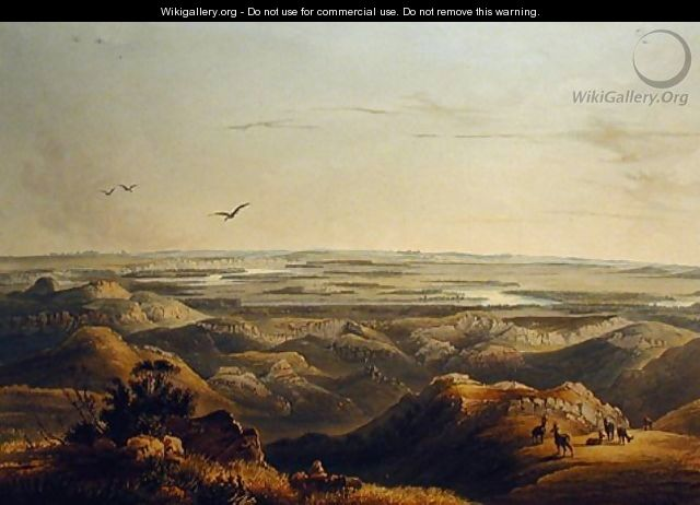 Junction of the Yellowstone and Missouri Rivers - Karl Bodmer