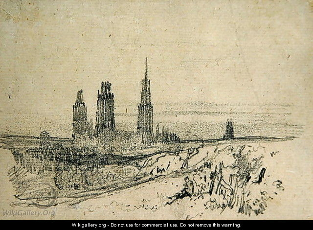 Rouen Cathedral - Richard Parkes Bonington