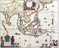 India Quae Orientalis Dicitur, Et Insulae Adiacentes, map showing South-East Asia and The East Indies, published, Amsterdam, c.1635 - Willem Blaeu