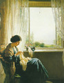 Sewing by a window 1915 - William Kay Blacklock