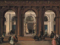 The entrance to the Biblioteca Marciana, Venice - Giuseppe Bernardino Bison