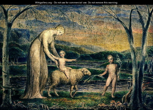 The Christ Child riding on a Lamb - William Blake