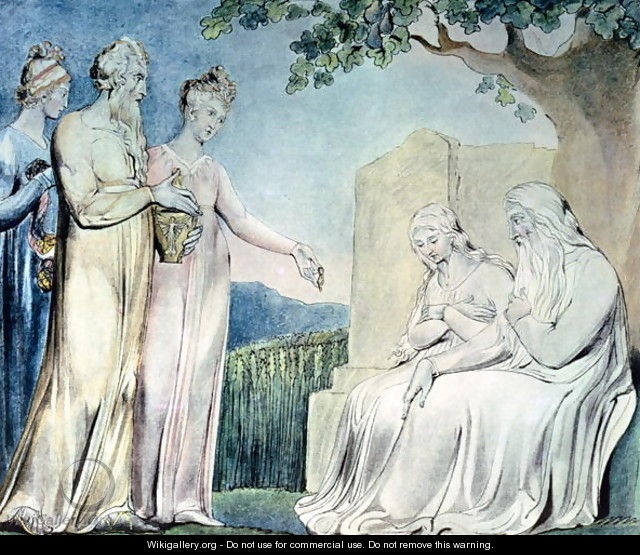 Illustrations of the Book of Job- Job accepting Charity, 1825 - William Blake