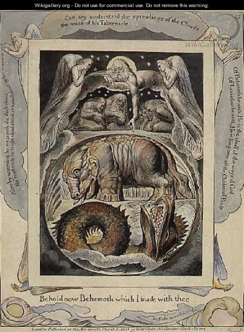Behemoth and Leviathan from the Book of Job - William Blake
