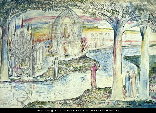Beatrice on the Car, Matilda and Dante - William Blake
