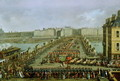 The Imperial Procession Returning to Notre Dame for the Sacred Ceremony of 2nd December 1804, Crossing the Pont-Neuf - Jacques Bertaux