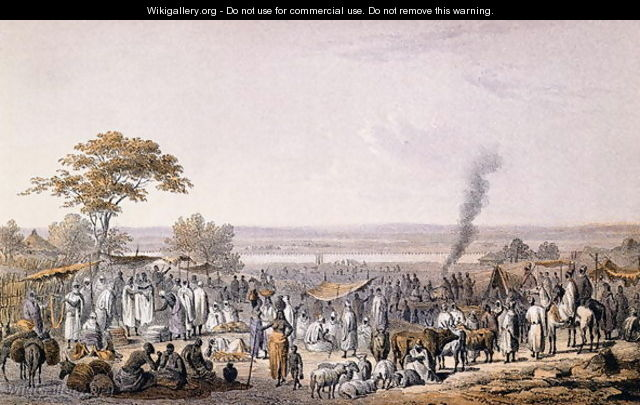 The Market in Sokoto in 1853, from