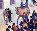 A Sale at Tattersalls, 1911 - Robert Polhill Bevan