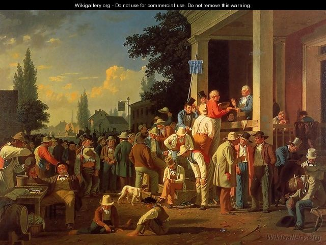 The Country Election - George Caleb Bingham