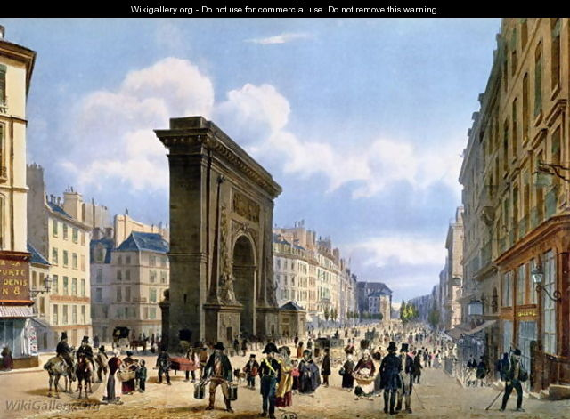 View of the Porte St. Denis, from