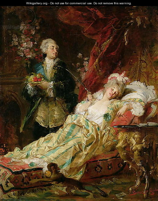 Louis XV and Madame Dubarry - Gyula Benczur