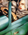 Autoportrait (Tamara in the Green Bugatti) 1925 - Tamara de Lempicka