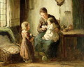 Playing with baby - Adolf-Julius Berg