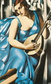Lady in Blue with Guitar, 1929 - Tamara de Lempicka