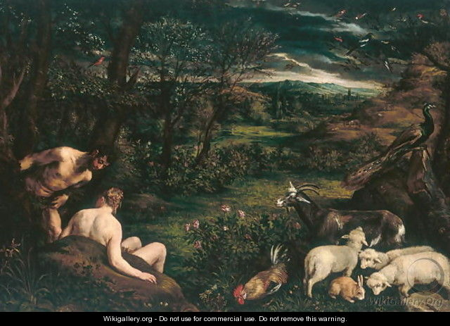 The Garden of Eden - Jacopo Bassano (Jacopo da Ponte)
