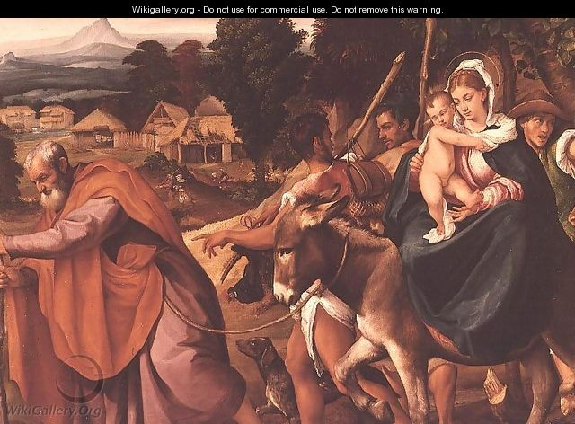 The Flight into Egypt (2) - Jacopo Bassano (Jacopo da Ponte)
