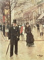 On the Boulevard - Jean-Georges Beraud