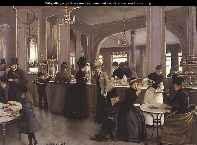 La Patisserie Gloppe, Champs Elysees, Paris 1889 - Jean-Georges Beraud