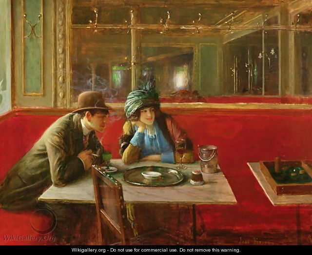 At the Cafe - Jean-Georges Beraud