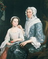 Portrait of an Elderly Lady and a Young Girl - George Beare