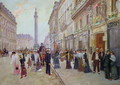 Workers leaving the Maison Paquin, in the rue de la Paix, c.1900 - Jean-Georges Beraud