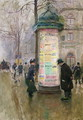 The Colonne Morris c.1885 - Jean-Georges Beraud