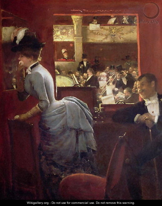 The Box by the Stalls c.1883 - Jean-Georges Beraud